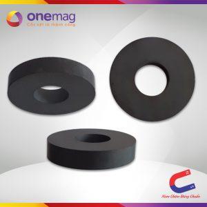 Nam châm đen Ferrite hình nhan 80x32x15mm